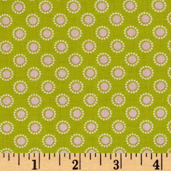 Linen and Lawn- Circle Green