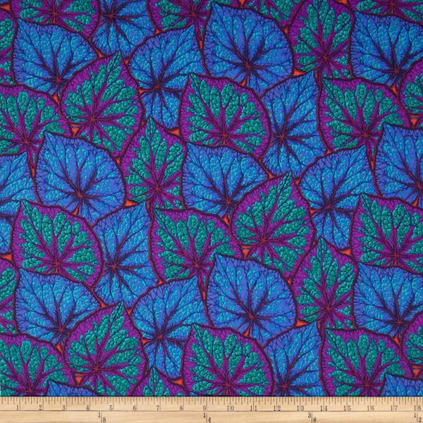Begonia Leaves- Cobalt