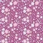 Tilda Plum Garden Flower Confetti Plum
