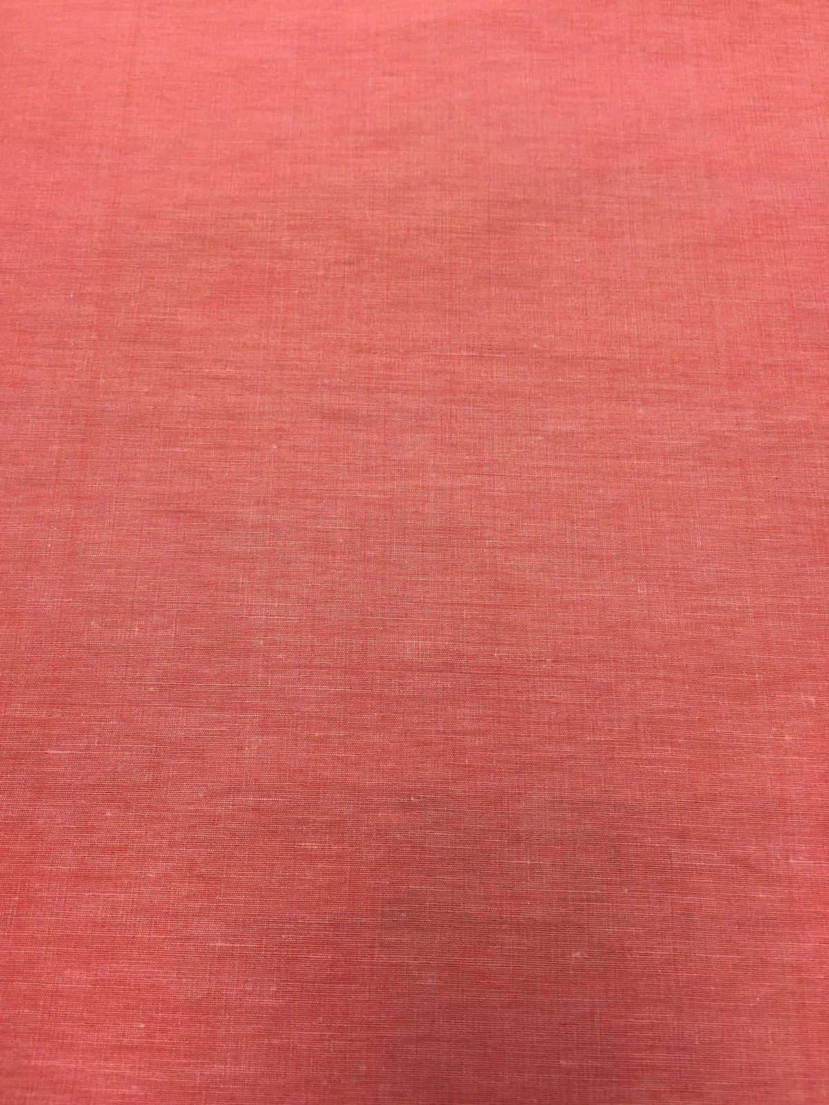 Coral Linen/Silk Blend