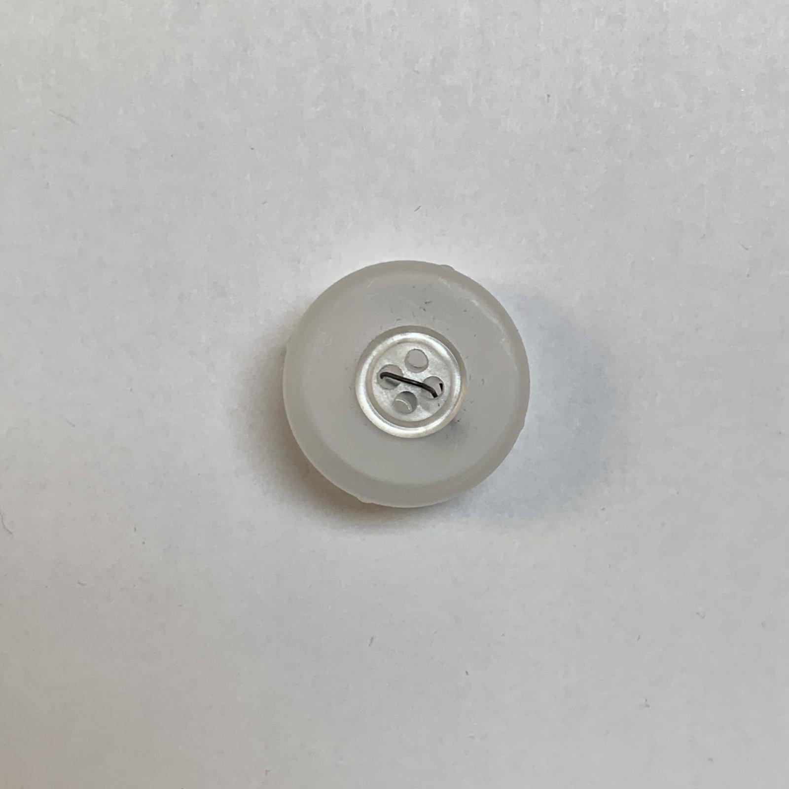 White Shiny Finish Button 1/3 Inch
