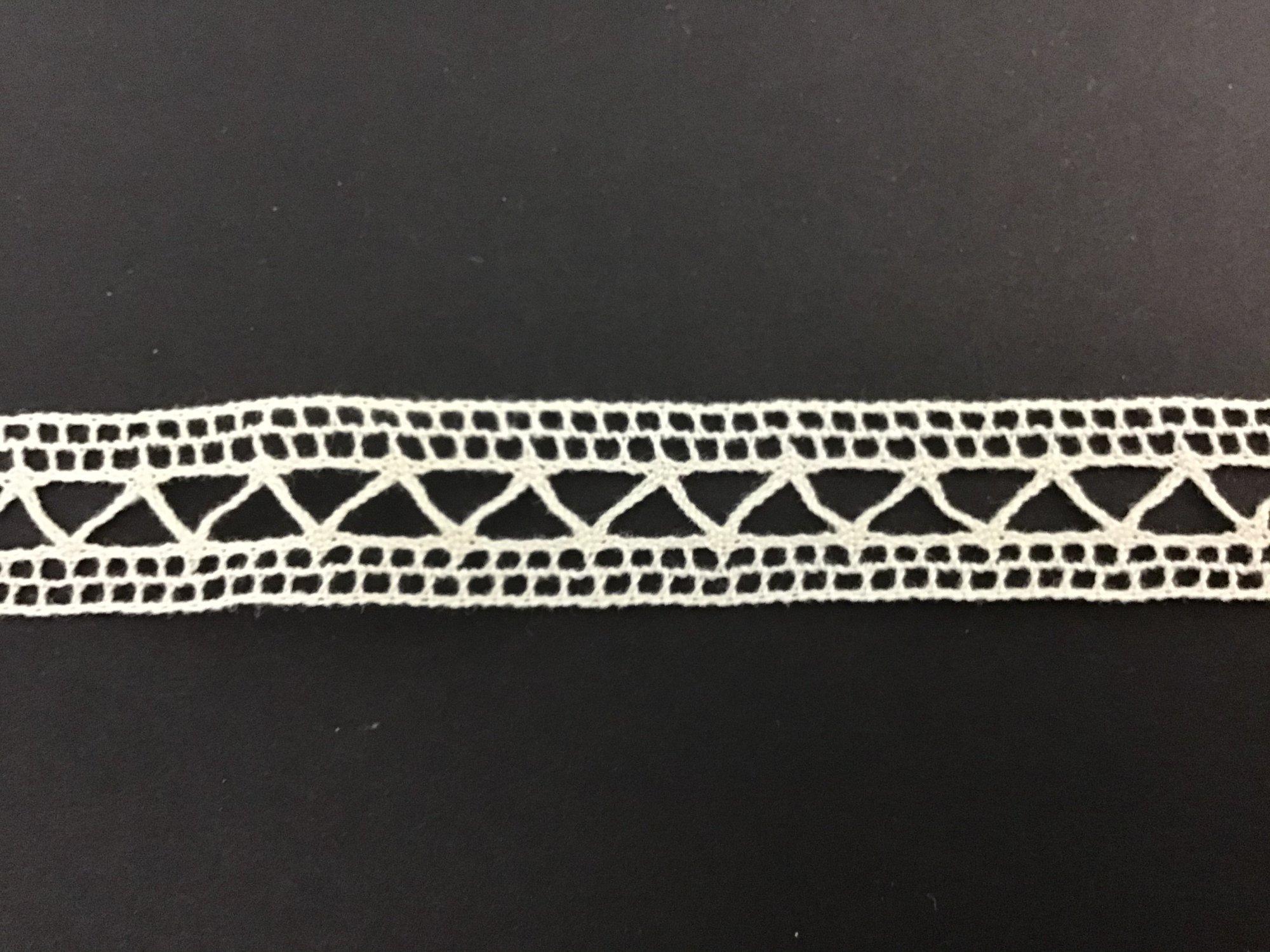 French Cluney Lace Insertion 5/8 Inch Ecru 1205-12