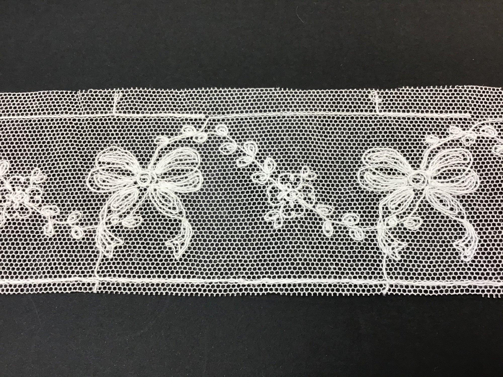 English Netting Lace Insertion 2 inch Soft White NM41-B