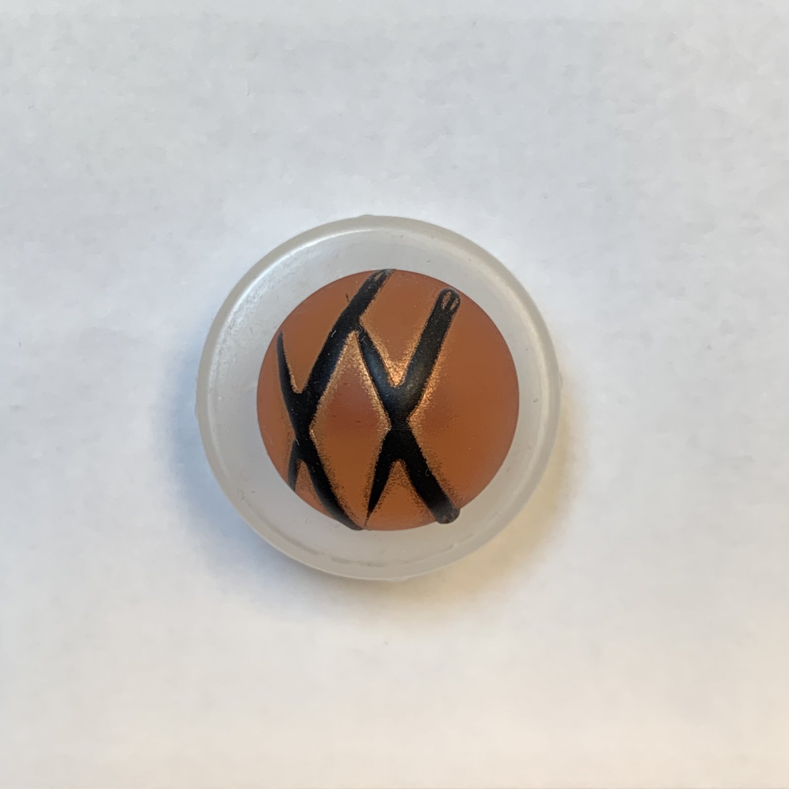 Golden and Black Striped Button 3/4 Inch