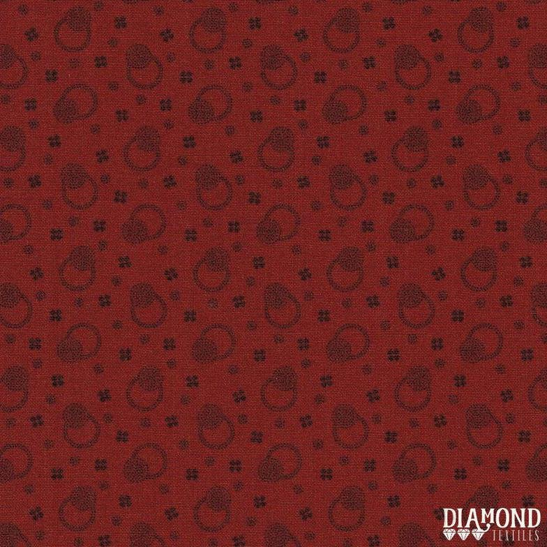 A Common Thread Dots & Blooms Red 10599