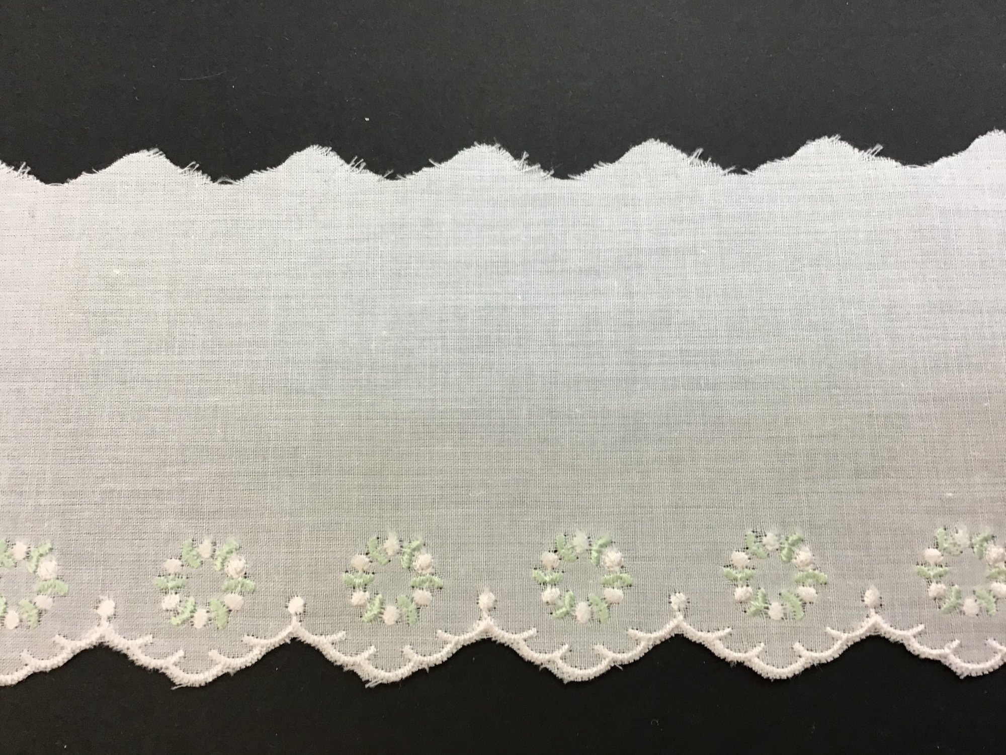 Swiss Embroidered Edging 3 Inches Pink and Green 69148-02A