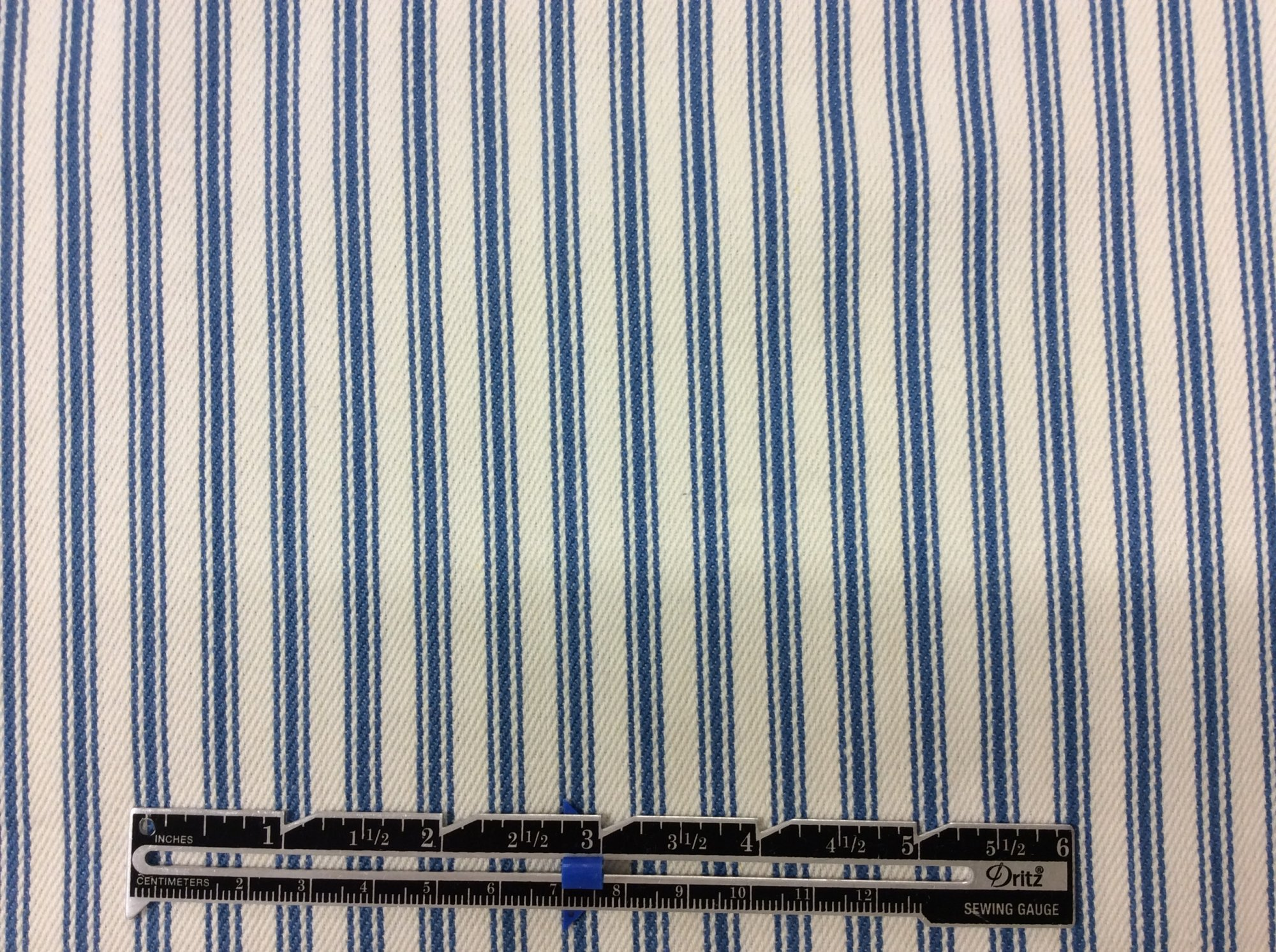 Ticking Stripe in Blue TS25