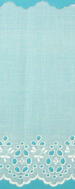 5 1/2 embroidered eyelet edging - white 694717W