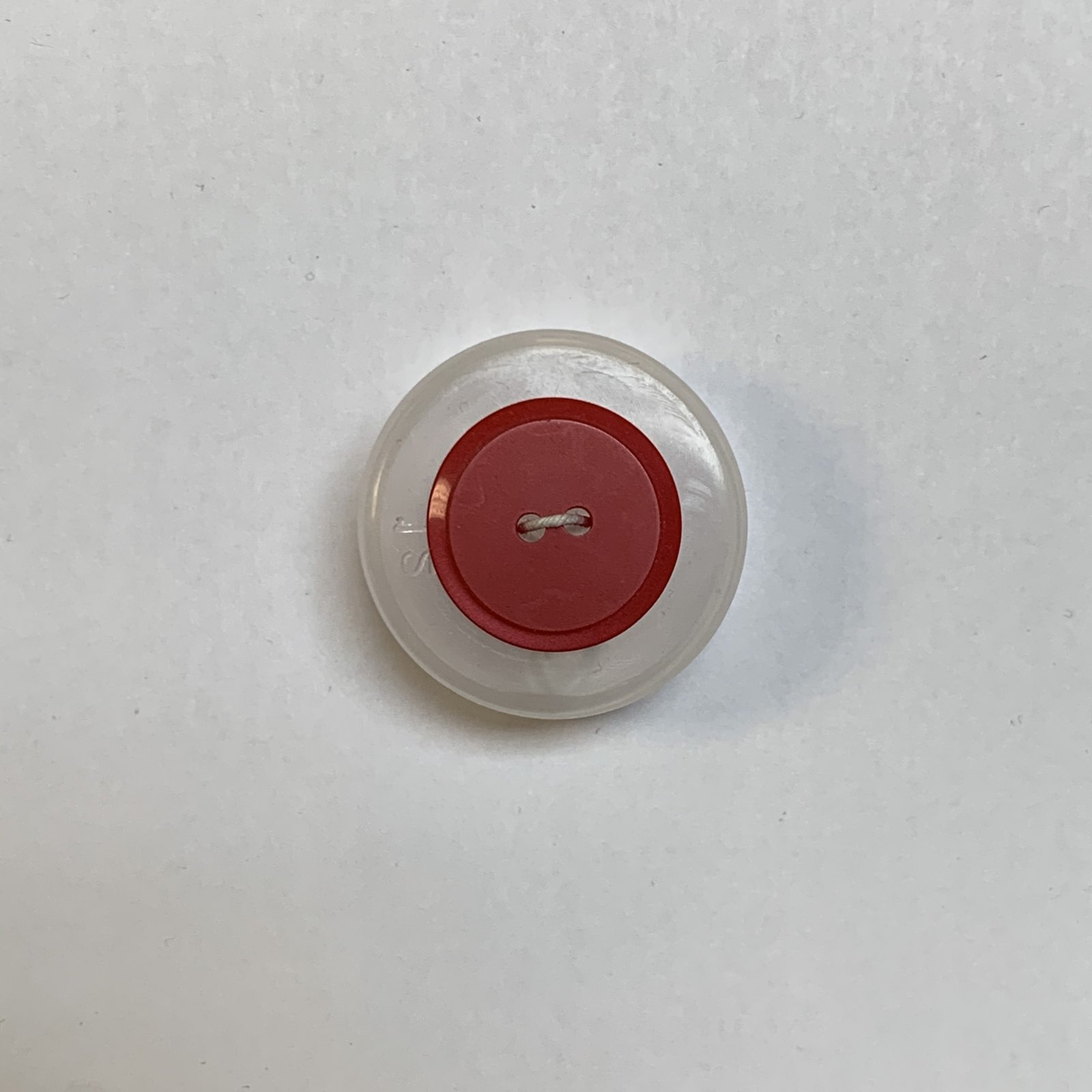 Red Button 3/4 Inch