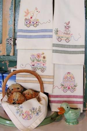 Easter Tea Towels Machine Embroidery