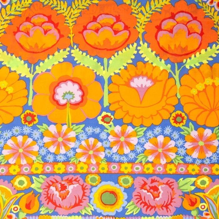 Embroidered Flower Border- Orange