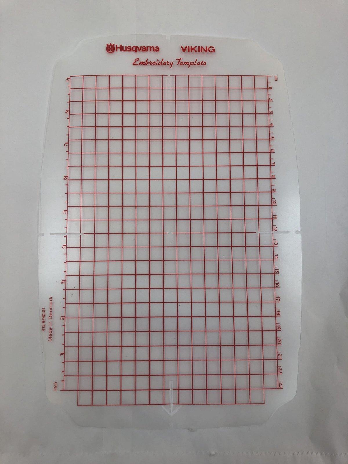 Hoop Template 240 mm x 150 mm