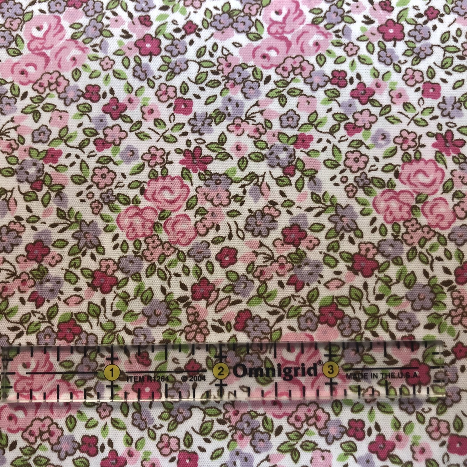 Pink Lavender and Green Floral Print  2336
