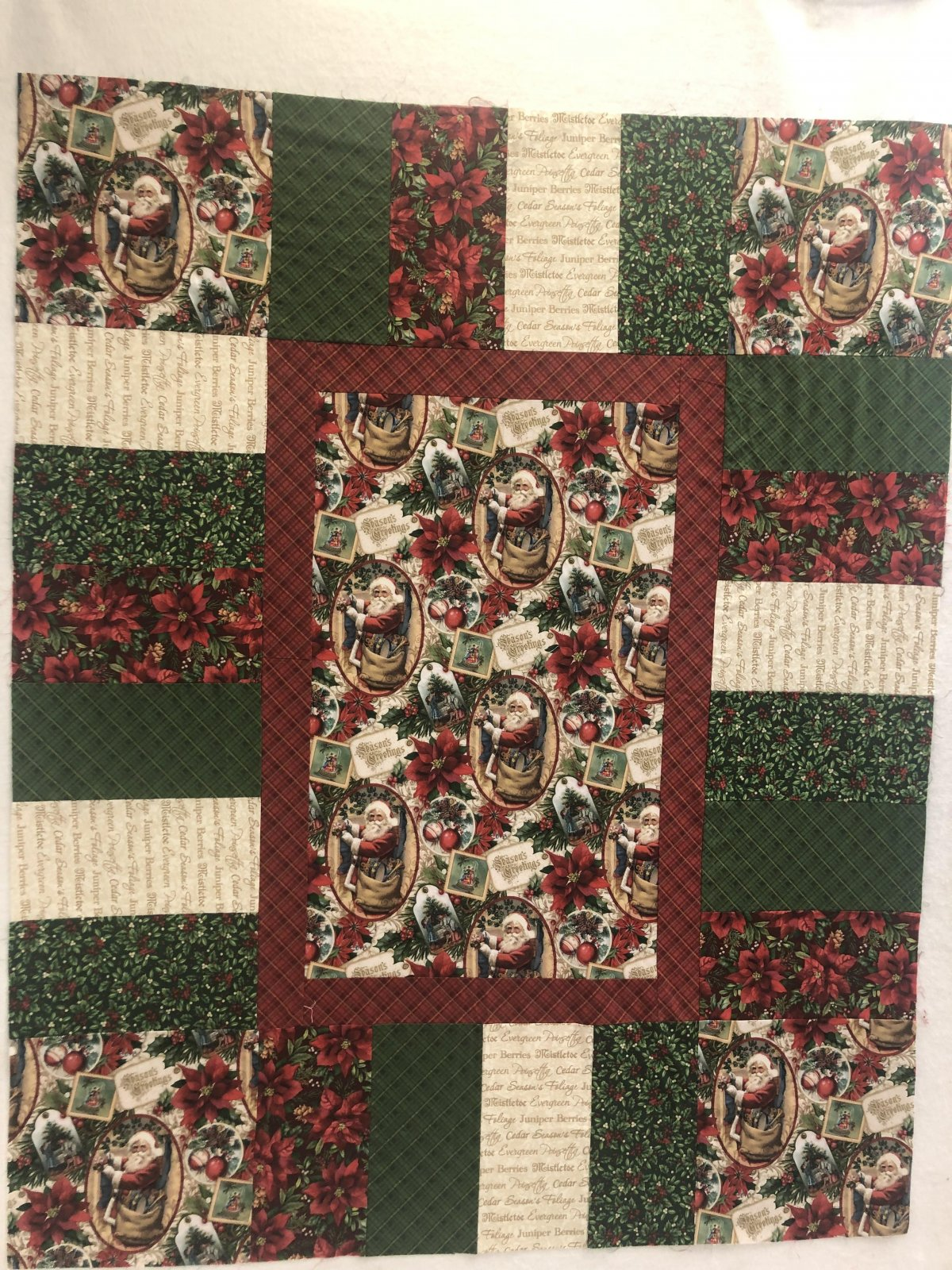 Old Time Christmas Eazy Piezy Quilt Kit