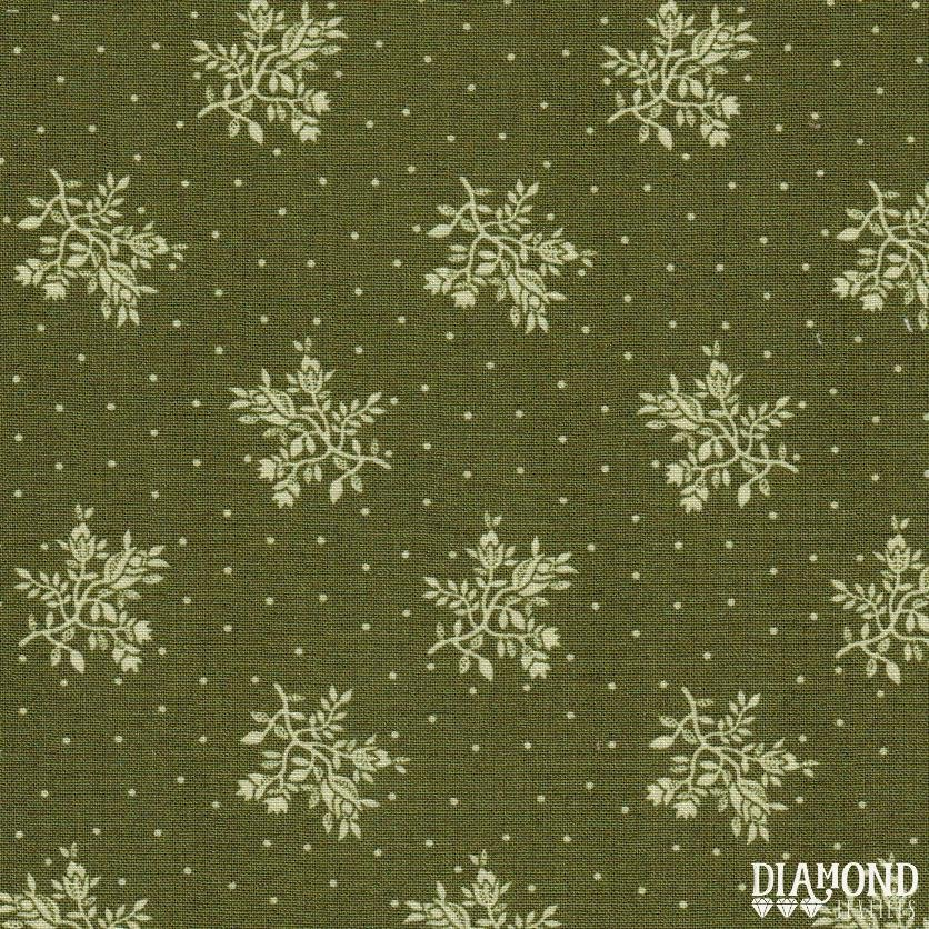 A Common Thread Fine Floral Green 10588