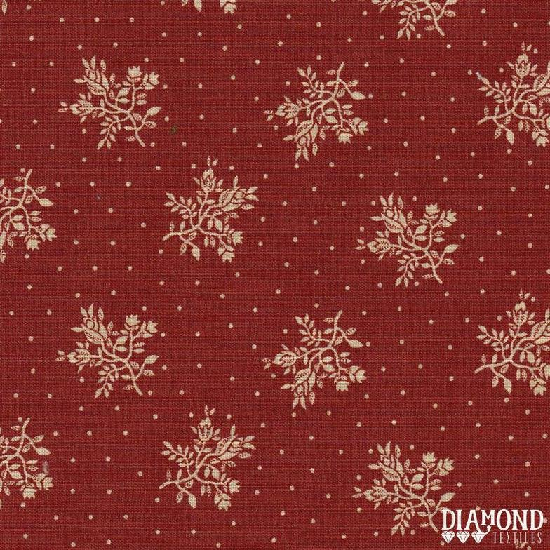 A Common Thread Fine Floral Red 10589