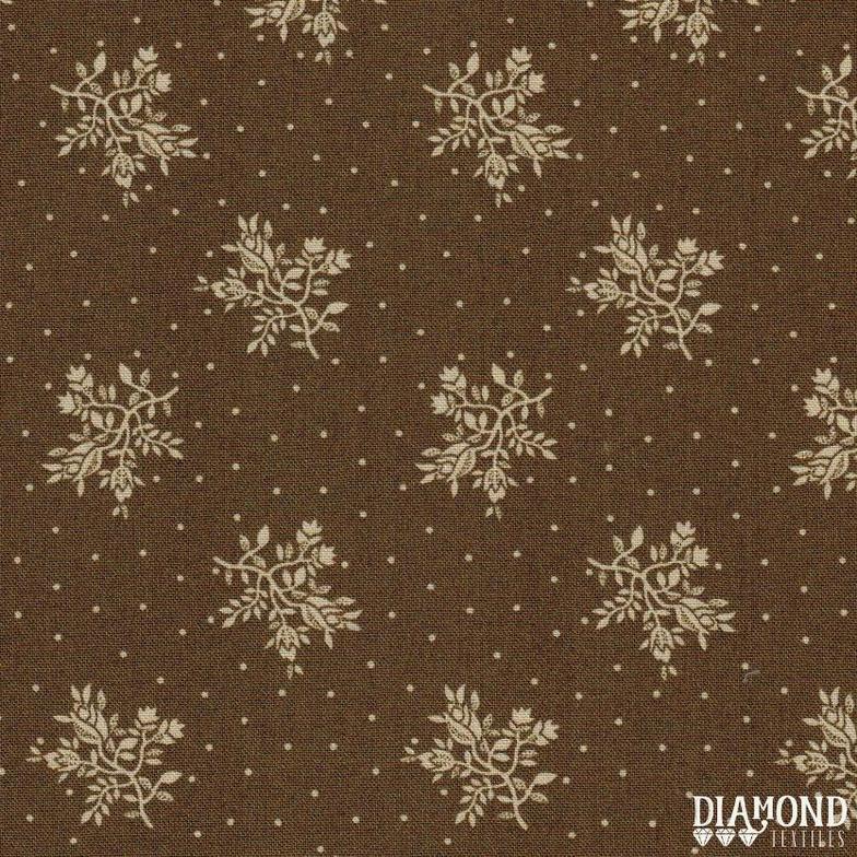 A Common Thread Fine Floral Brown 10590