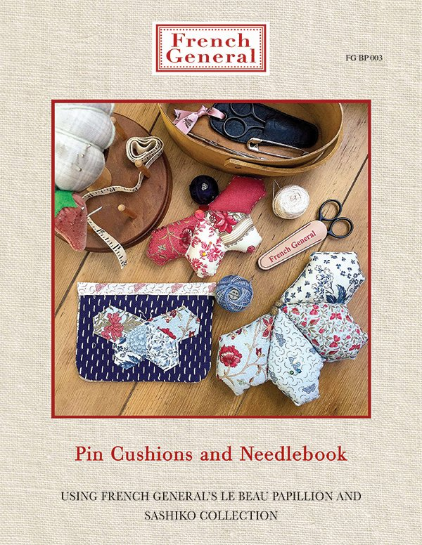 French General Pin Cushions and Needlebook Pattern