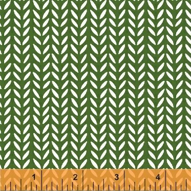 Flourish Green Herringbone 43513-5