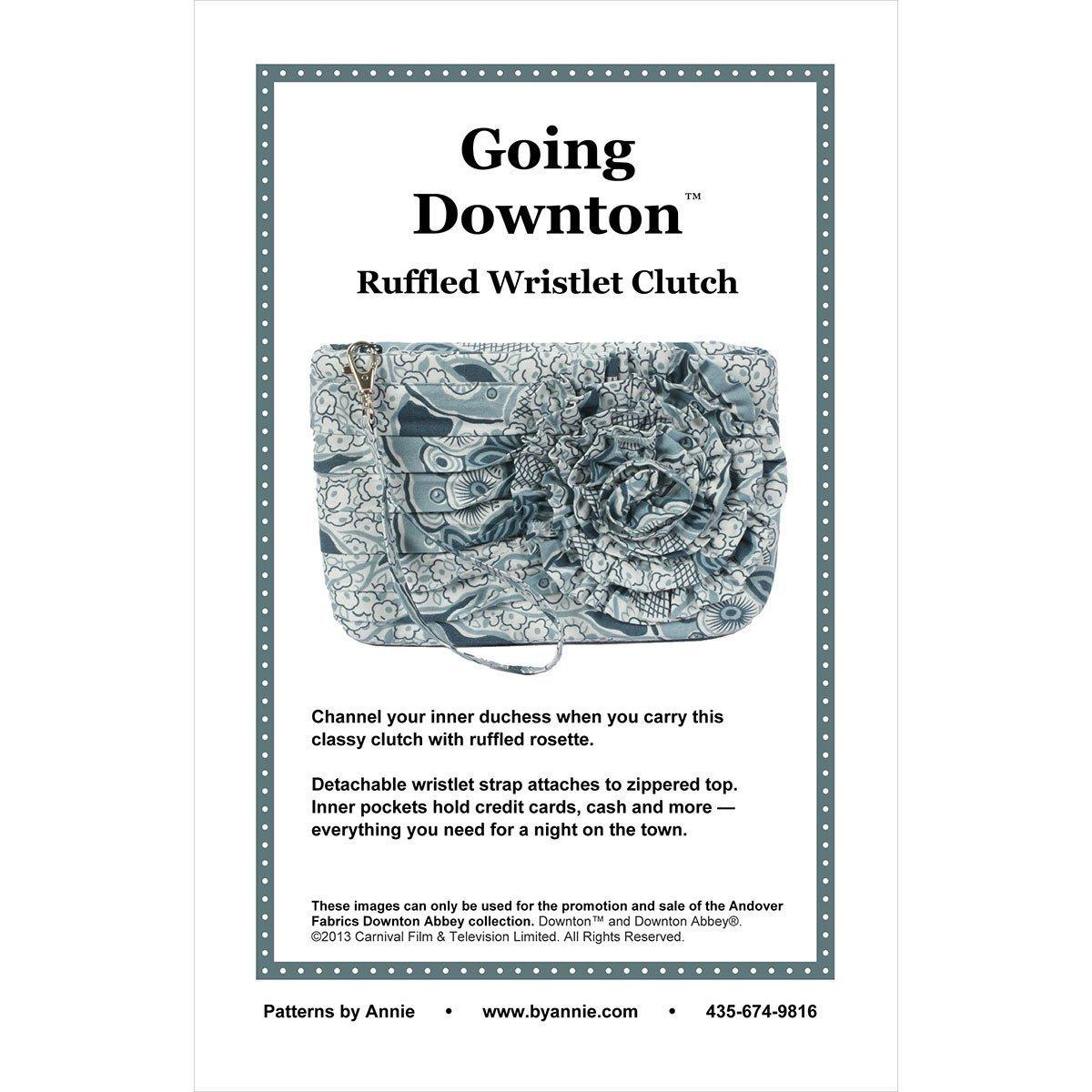 Going Downtown Ruffled Wristlet Clutch Pattern