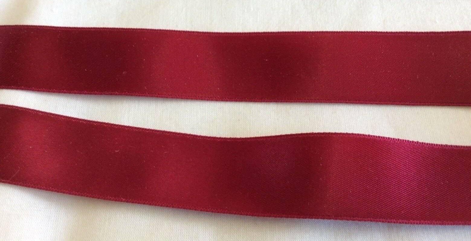 Grayblock Double Faced Satin Ribbon in Wine