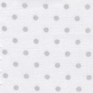Grey Polka Dots on White 2165
