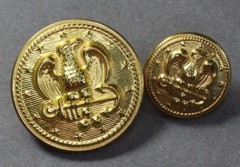 Gold Eagle Button H5016