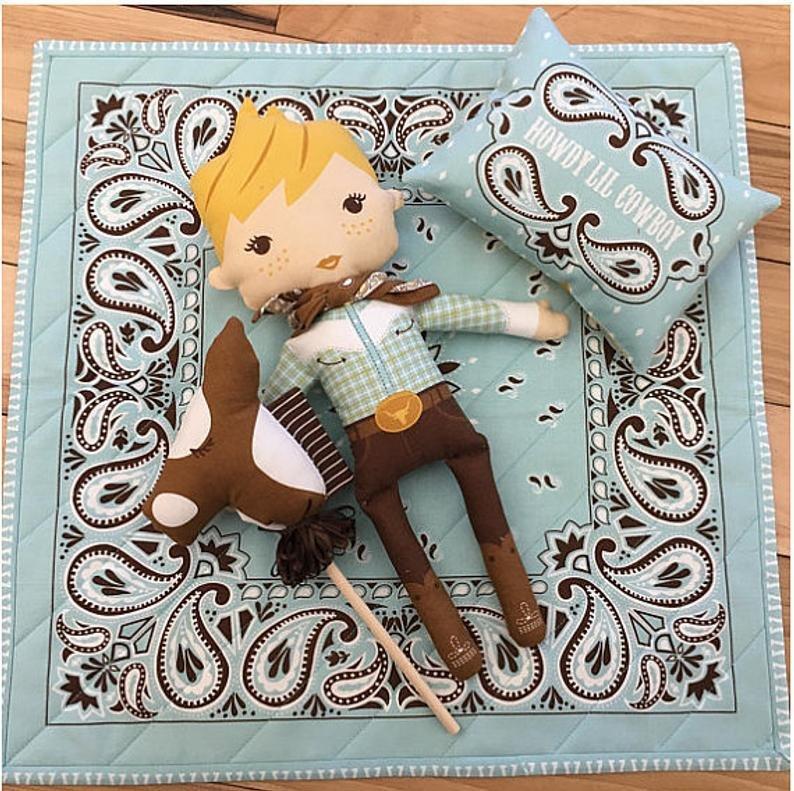 Howdy  Cowboy Doll Panel