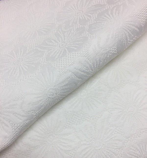 Cotton Damask Floral white