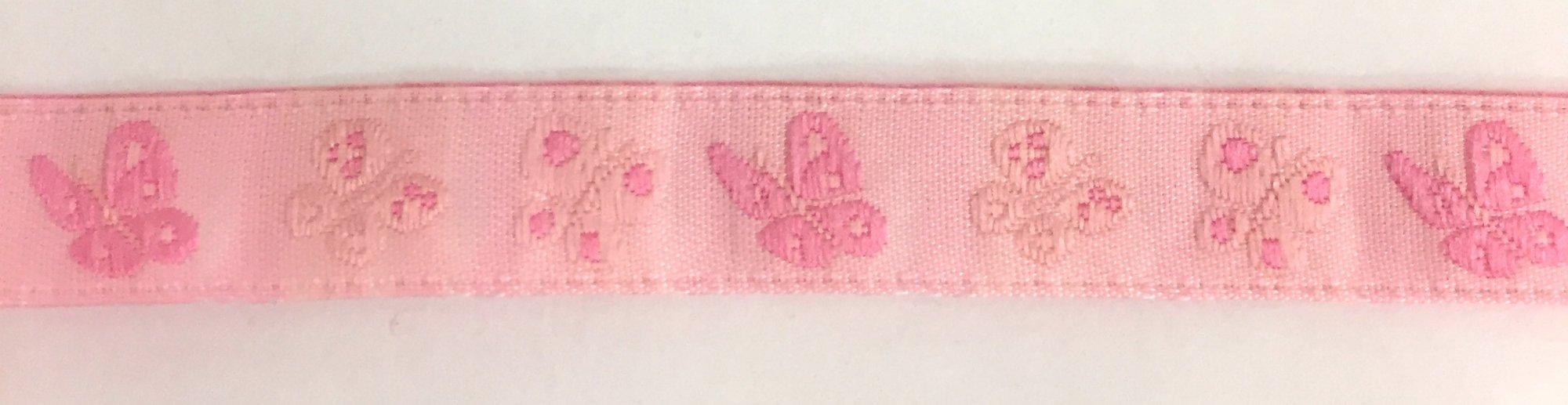 1/2 inch- Pink Butterflies