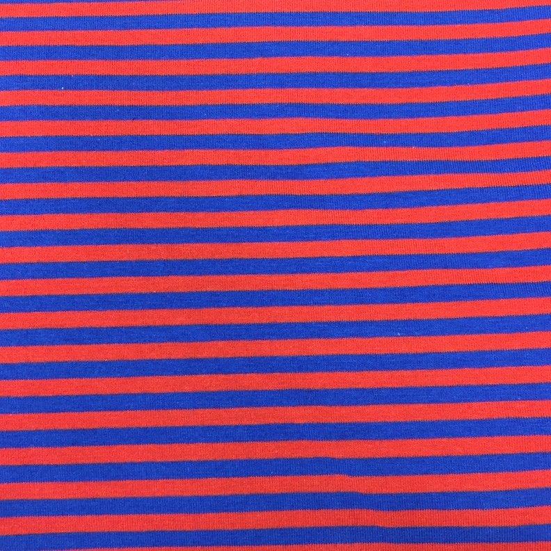 Navy & Red Stripe Knit