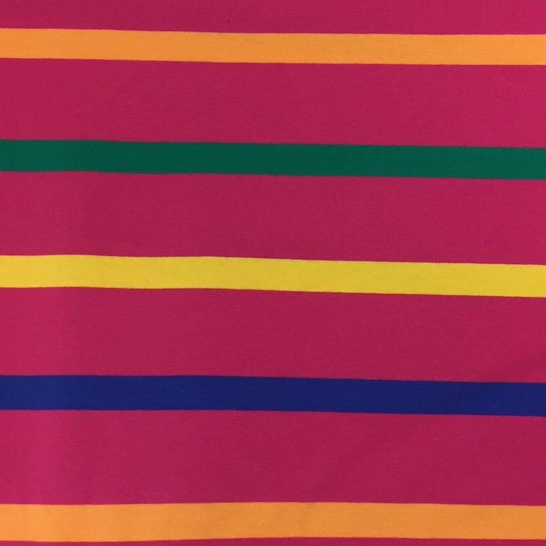Pink Colorful Stripe Knit