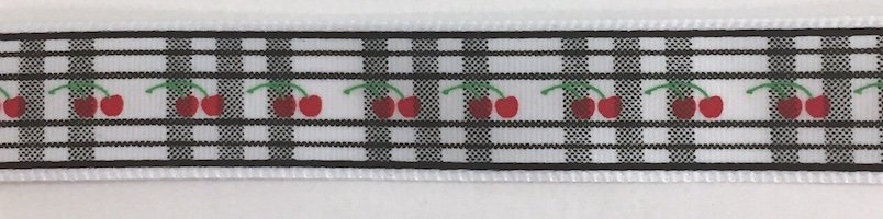 5/8 inch- Cherry Plaid