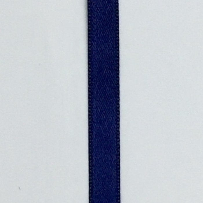 Double Face Satin Ribbon in Navy 1/4in