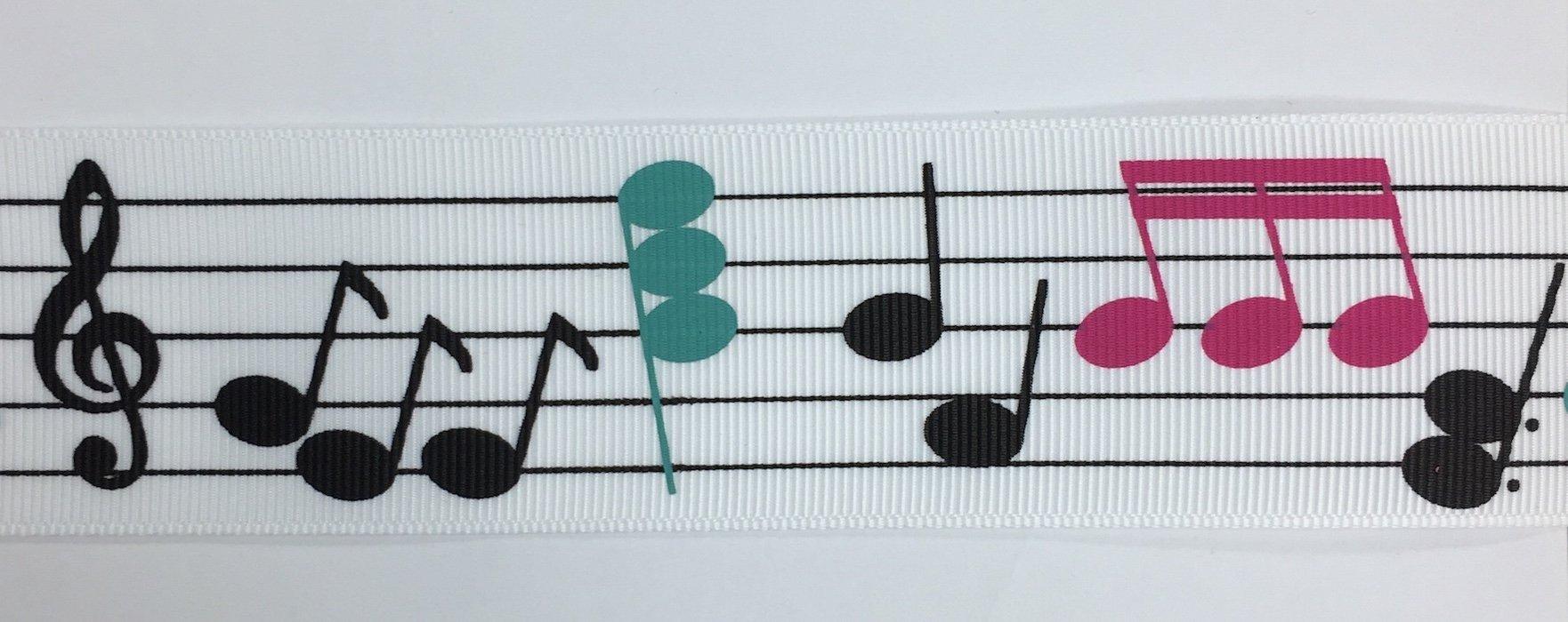 1.5 inch Music Notes Grosgrain