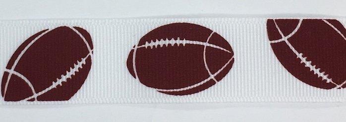 7/8 inch Football Grosgrain
