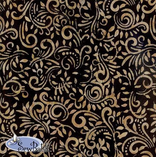 Batik Jersey Knit Phoenix in Tuxedo Brass 04510-1639
