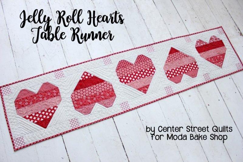 Jelly Roll Hearts Table Runner Kit