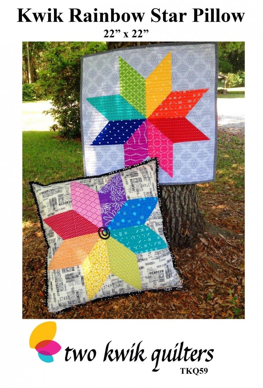 Kwik Rainbow Star Pillow Pattern