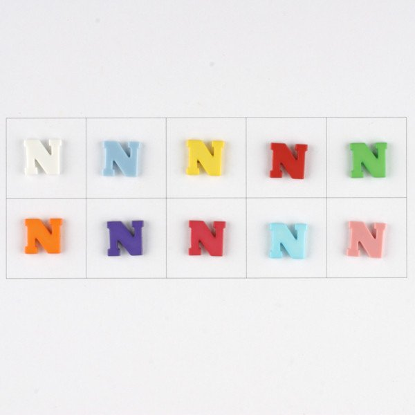 Letter N Button