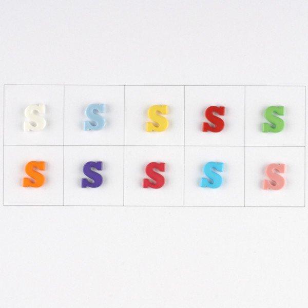 Letter S  Button