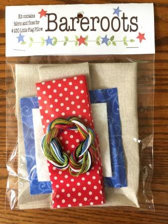 Little Flag Pillow Fabric and Floss Kit
