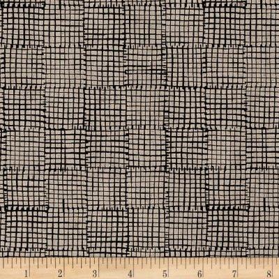 Maker Maker Linen Blend Grid Black 8456