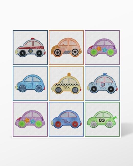 GO! Cute Car Embroidery Designs CD