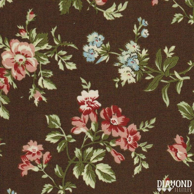 A Common Thread Main Floral Brown 10585