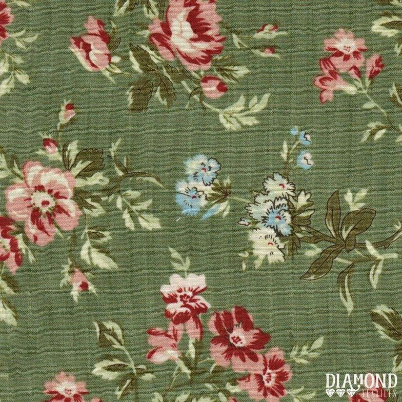 A Common Thread Main Floral Teal 10587