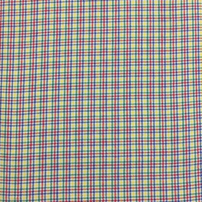 Multi Colored Check Brushed Cotton
