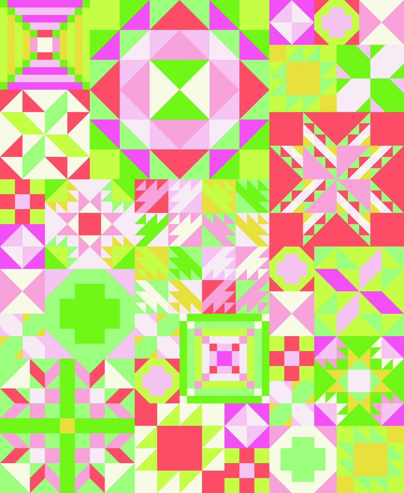 My Favorite Color is Moda Primrose Garden Sampler Quilt Kit