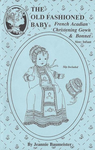 French Acadian Christening Gown, Bonnet & Slip