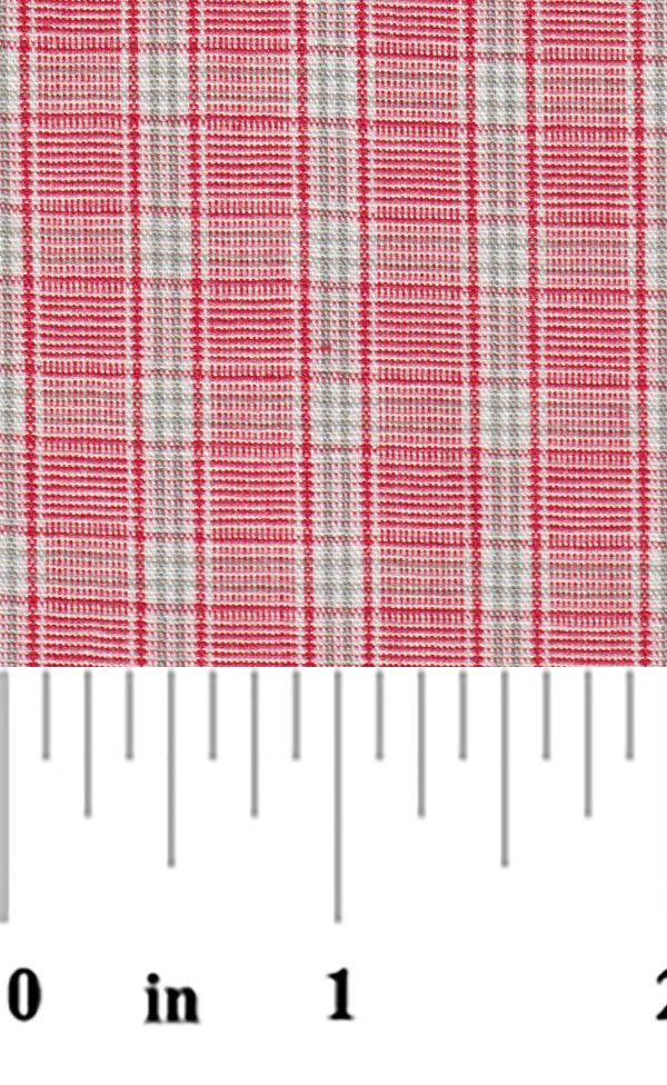 Red and Gray Plaid P53